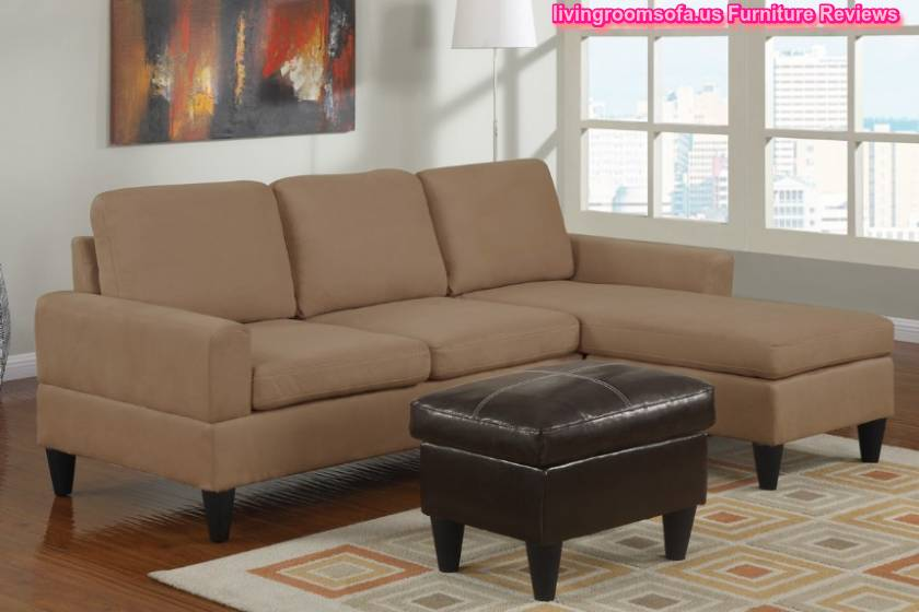 Beige apartment size sectional sofa l shaped small for What size sectional for my room
