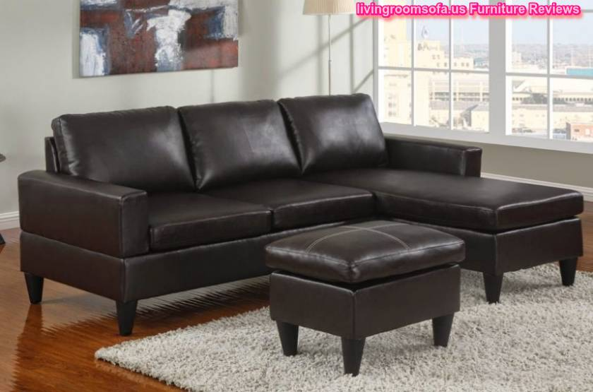 Black Leather Apartment Size Sectional Sofa « : apartment size sectional with chaise - Sectionals, Sofas & Couches