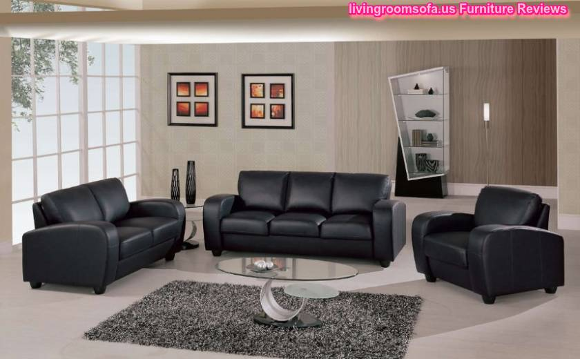 Black leather living room sofas chairs designs for Living room ideas with black leather sofa