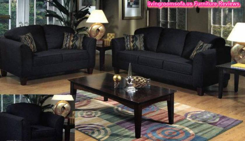 Black Living Room Furniture Sofas Coffe Table