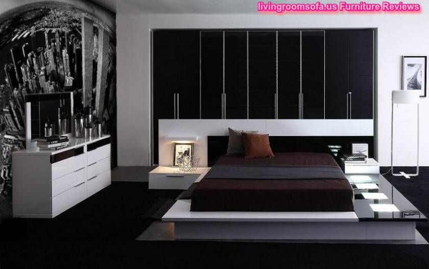 black white bedroom furniture design ideas