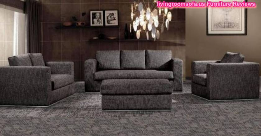 Shaped black sofa modern living room apartment size