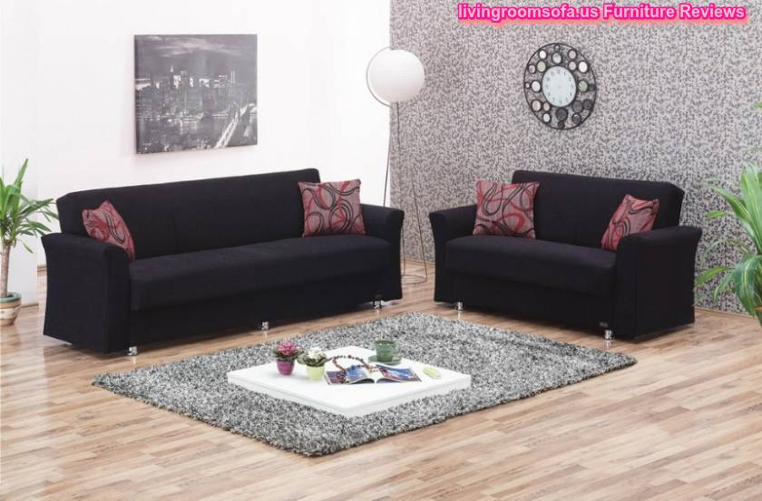 Black Fabric Sofa Beds Living Room Sofas