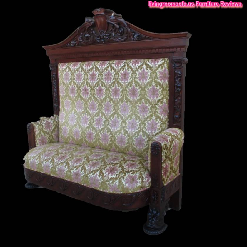 Carved wood antique settee bench for Bad design furniture