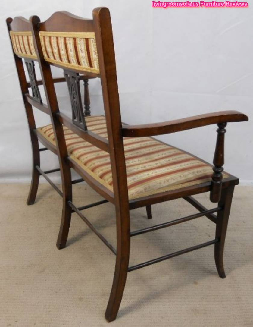 Classic antique settee bench wooden