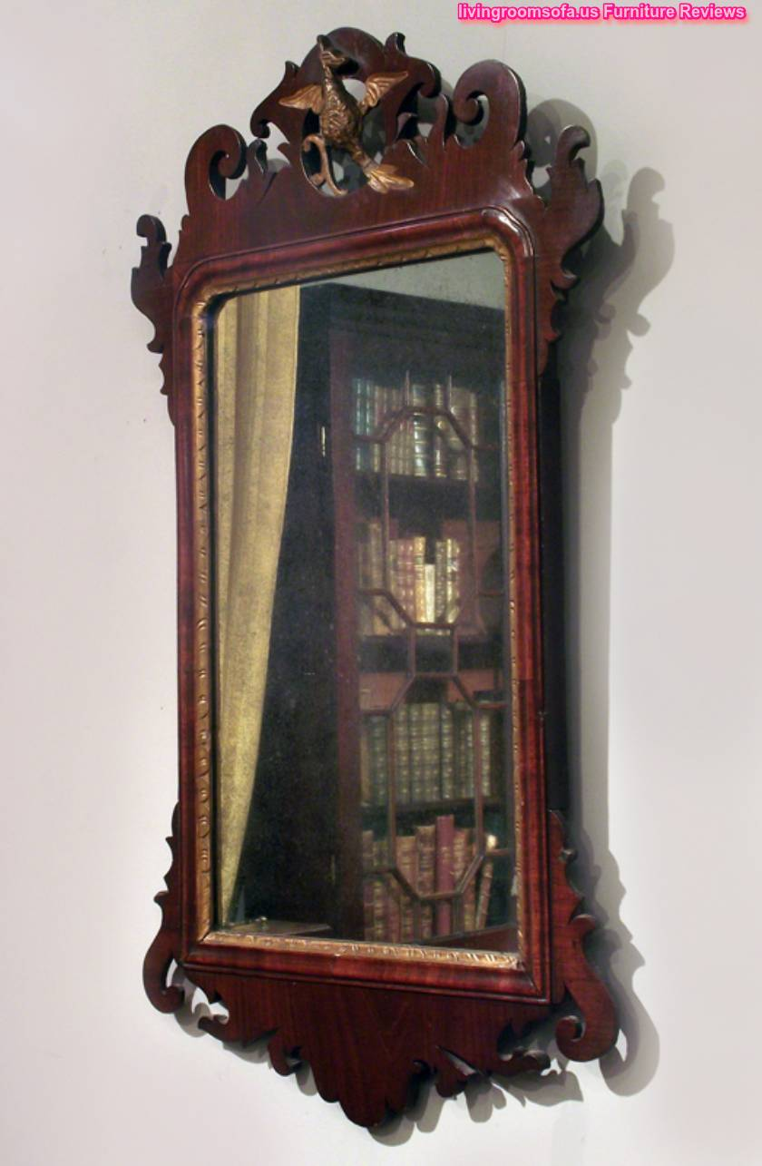 Decorative Antique Wood Wall Mirror Design