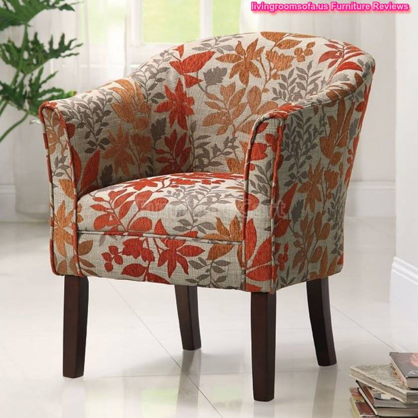 Captivating Great Leafs Patterned Accent Chair Design