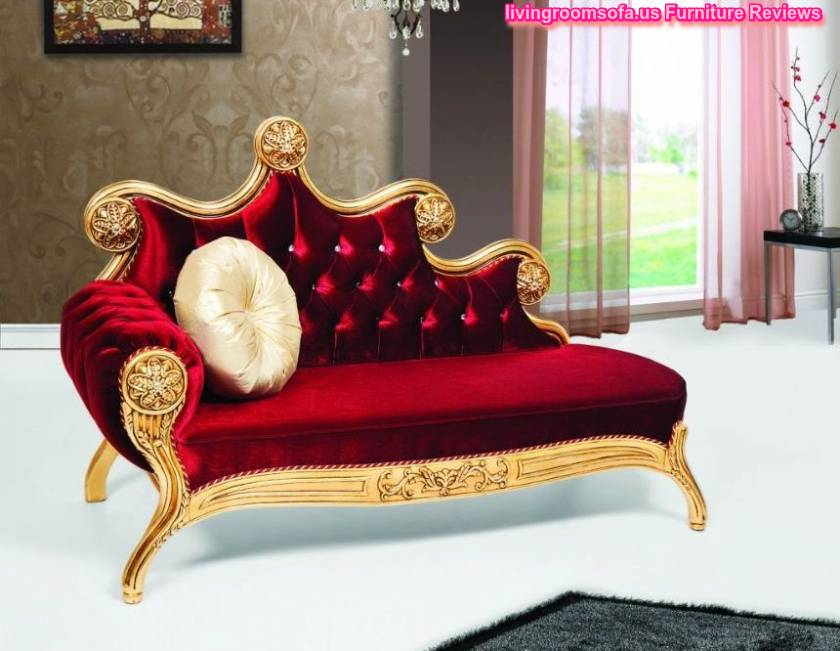 Josephine red velvet carved chaise lounge design for Carved chaise lounge