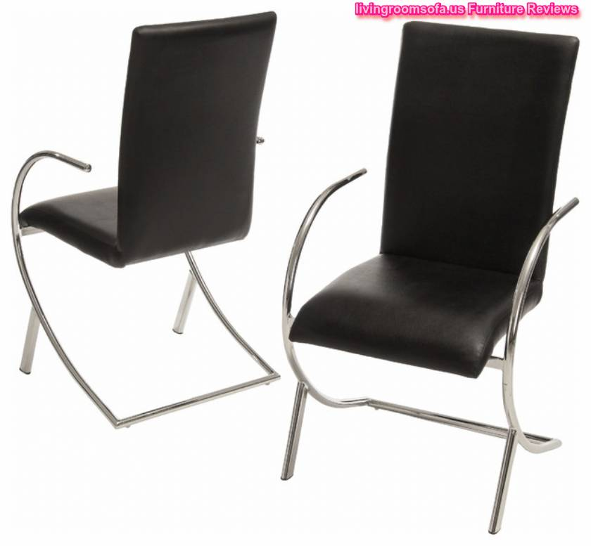 Leather black modern dining chairs for Modern black dining chairs