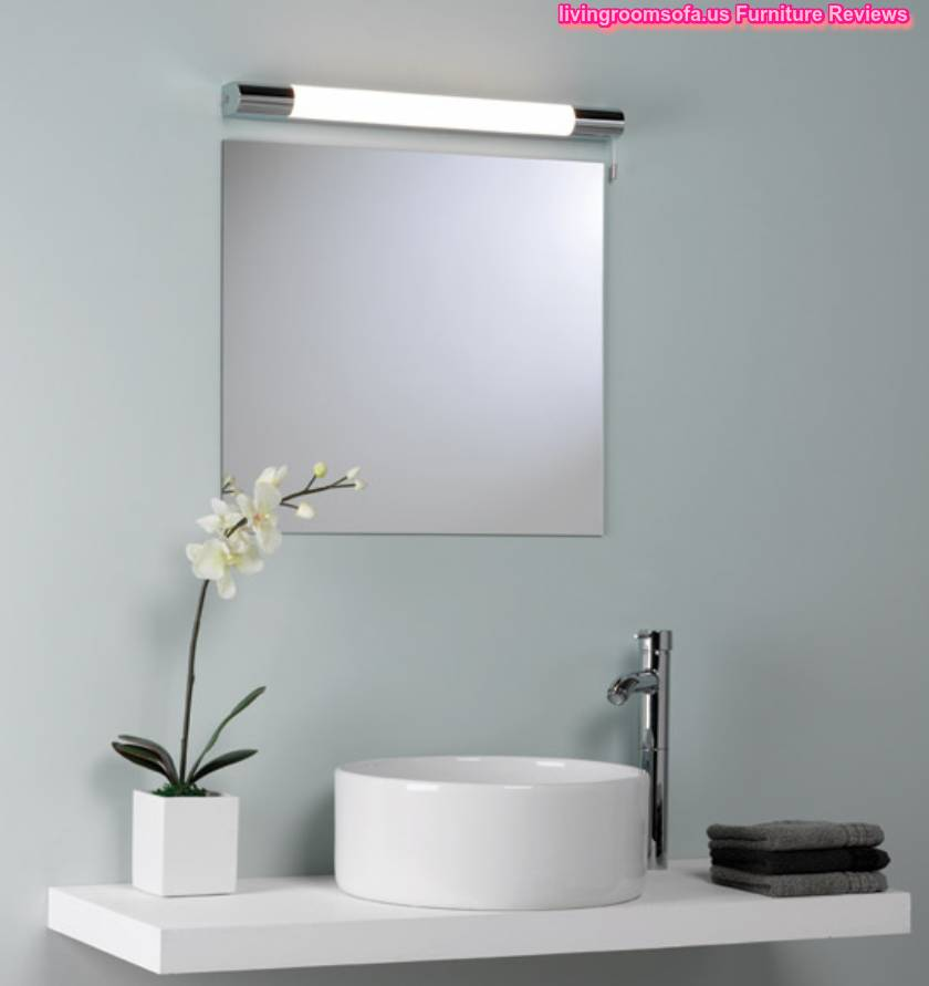 Modern bathroom wall mirrors with lights for Bathroom wall
