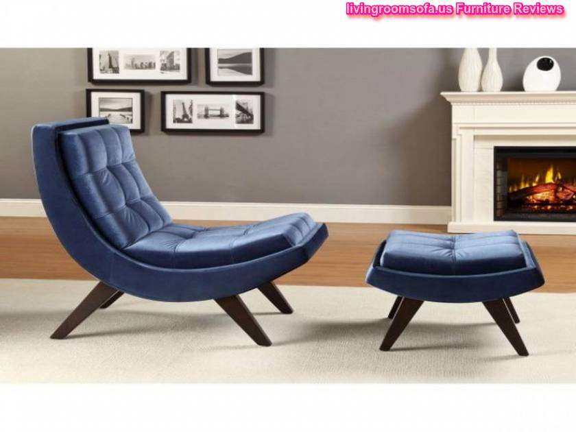 Modern Blue Contemporary Chaise Lounge Chairs For Bedroom