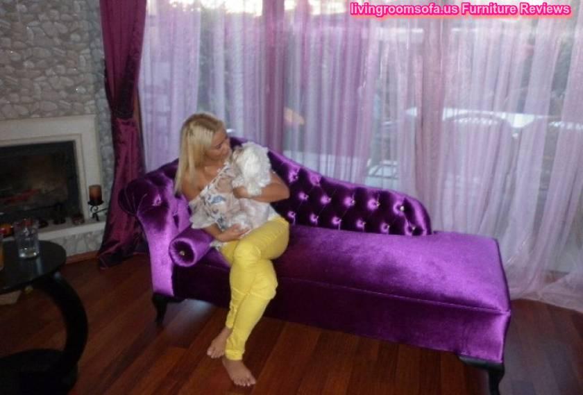 Purple velvet bedroom chaise lounge design for Velvet bedroom designs