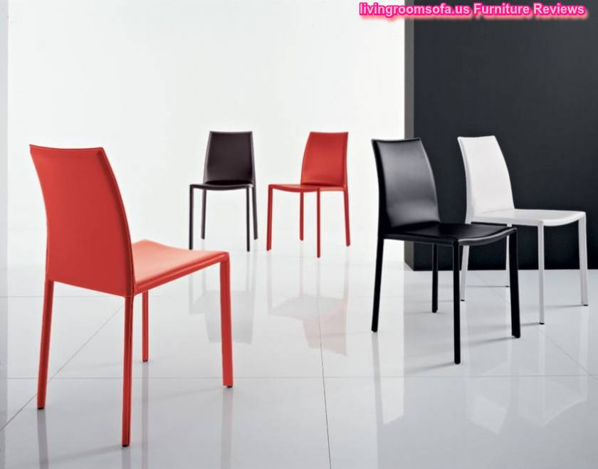 White black red dining room chairs leather for Black leather dining room chairs