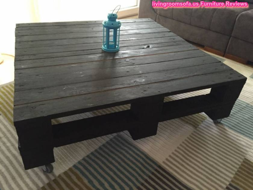 Antique Pallet Black Wood Coffee Table