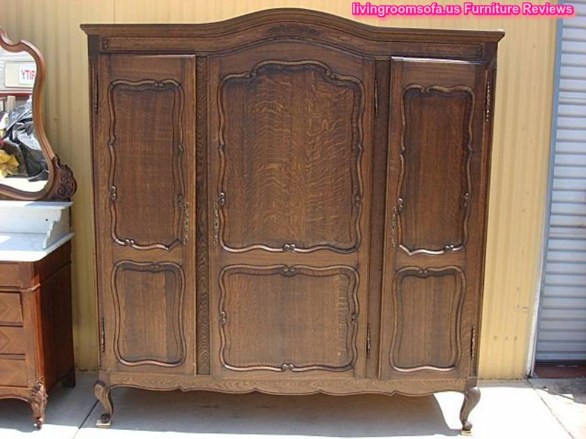 antique wooden bedroom armoire wardrobe