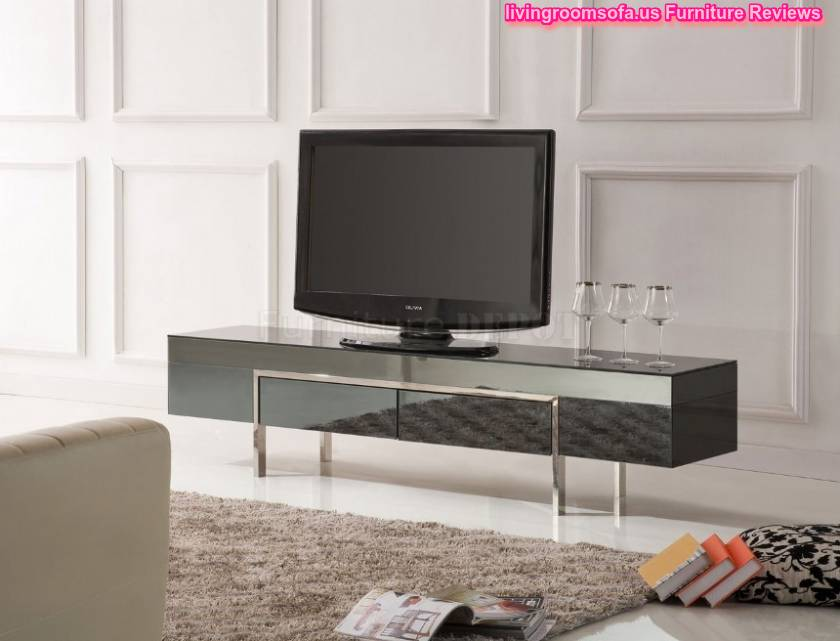 Appealing Contemporary Modern Tv Stands Dark Color Design Ideas