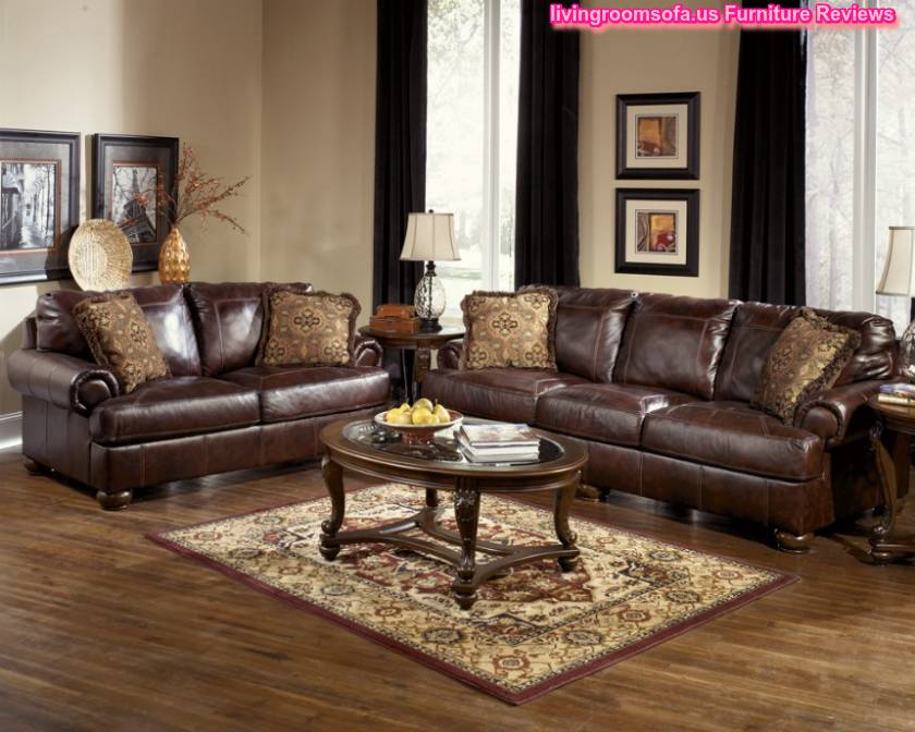 Ashley Furniture Axiom Leather Living Room Set Sets
