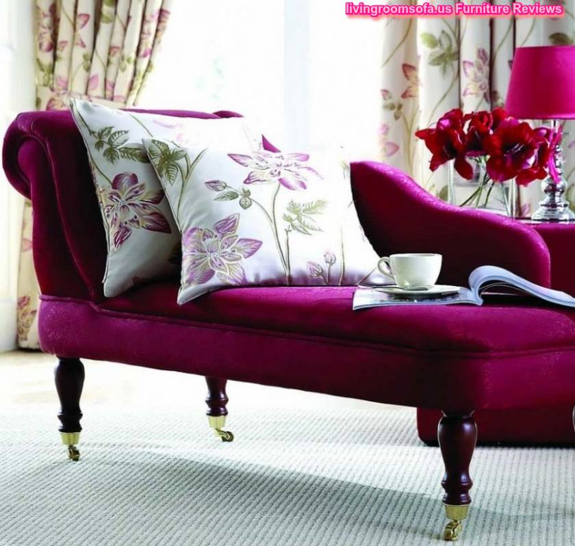 Beautiful Purple Chaise Lounge Couch For Bedroom Idea «