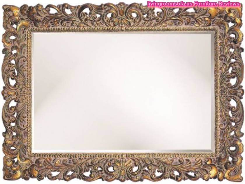 Carved antique wall mirror decorative for Miroirs decoratif
