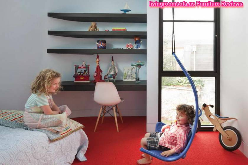 Contemporary Kids Furniture With Red Carpet