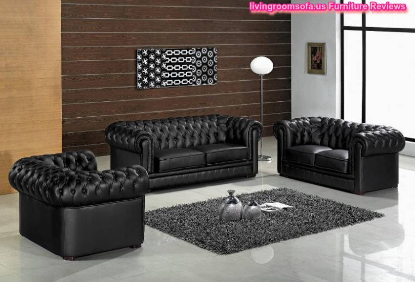 Contemporary Living Room Furniture Chesterfield Sofa Set Design