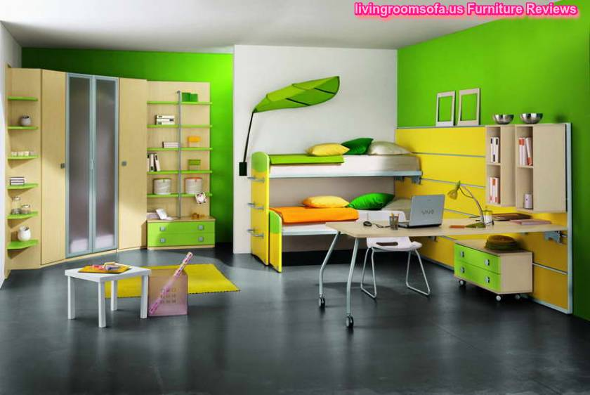 Contemporary Rug With Yellow Kids Furniture