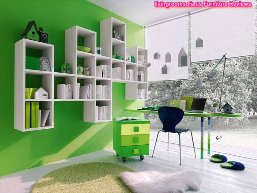 Cool Kids Bedrooms Green Decorating Ideas