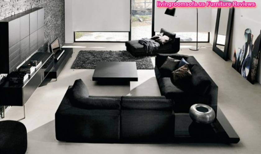 black living room furniture set.  Fantastic Black Living Room Furniture Sets