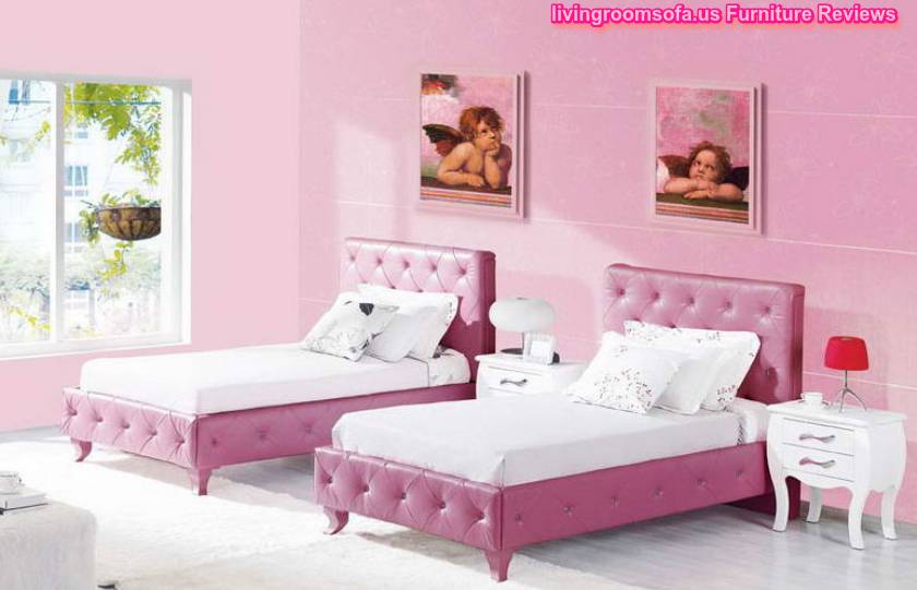Girls Bedroom Colors Perfect With Two Bedding Ideas Wall Pink Color ...