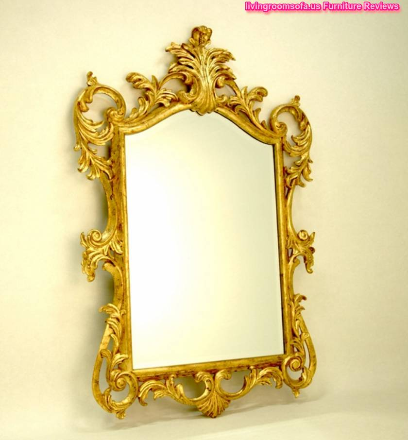 Decorative antique wall mirrors designs for Gold window mirror
