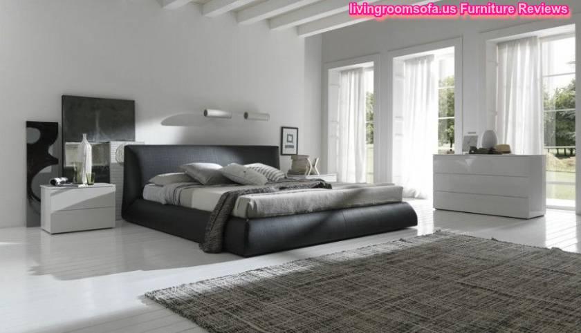 italian wave leather bedroom design idea