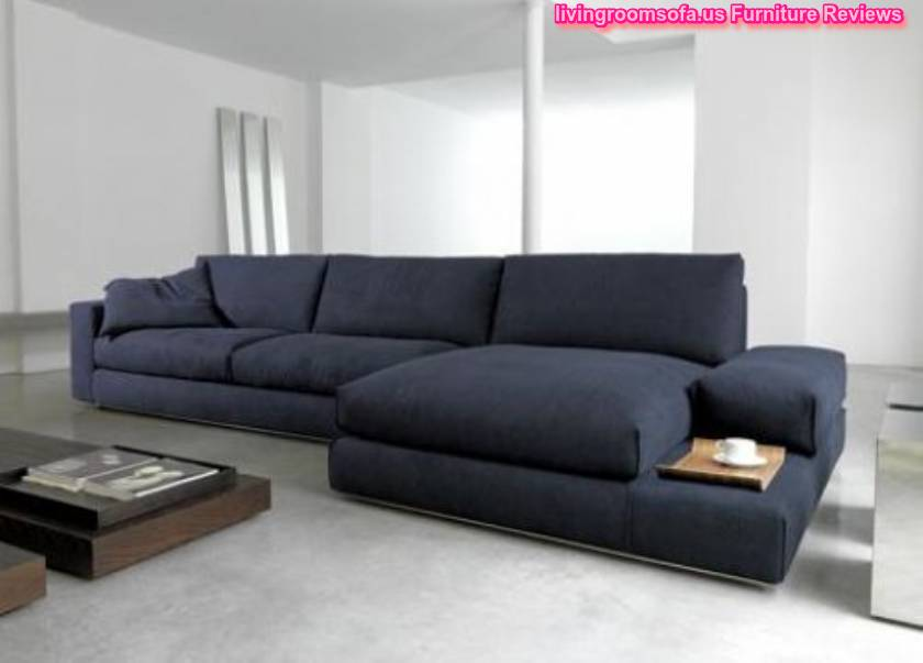 shaped black or dark gray sofas for living room