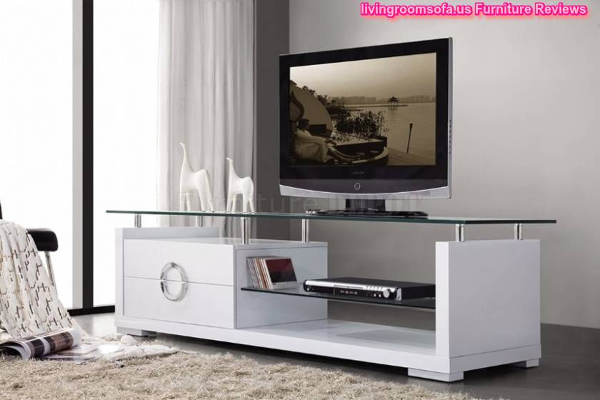 Marvelous White Flat Screen Modern Tv Stands Design Ideas Images And Fur Rug