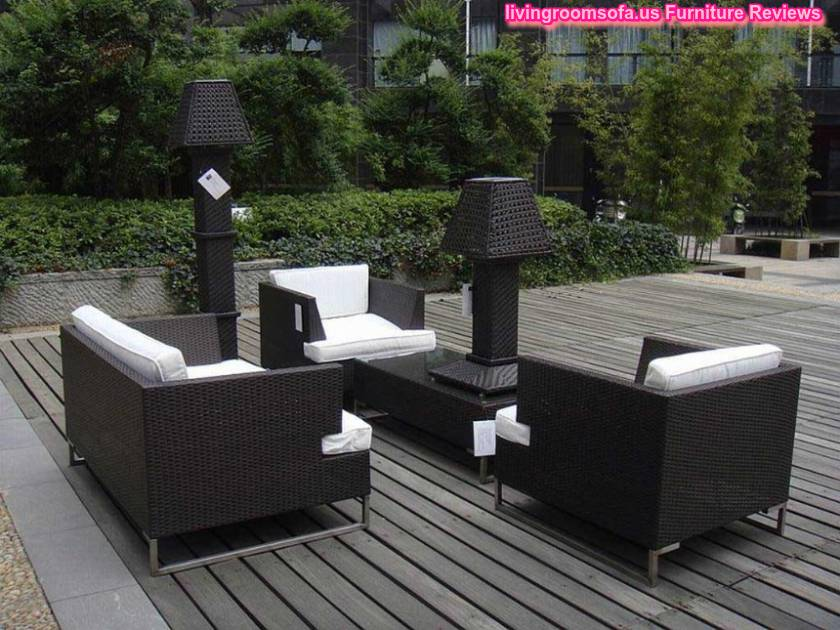 modern resin wicker black outdoor patio furniture set