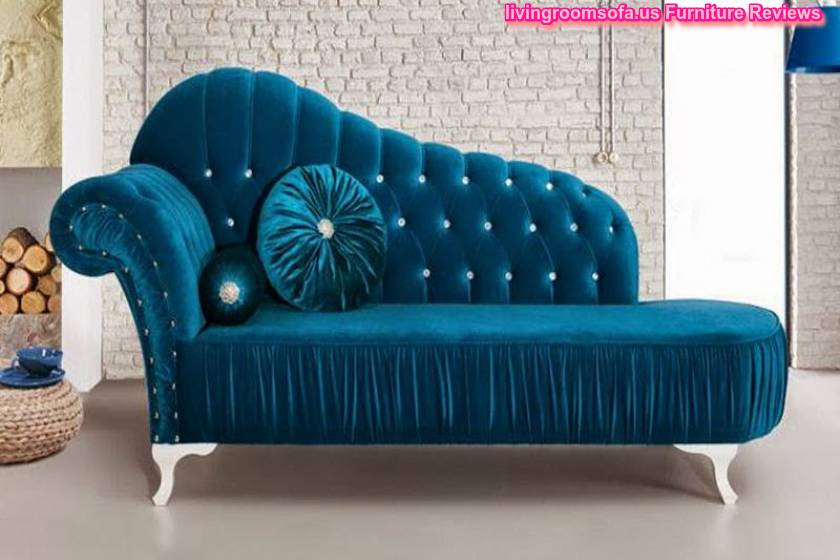 Parliament aqua velvet chaise lounge for Aqua chaise lounge