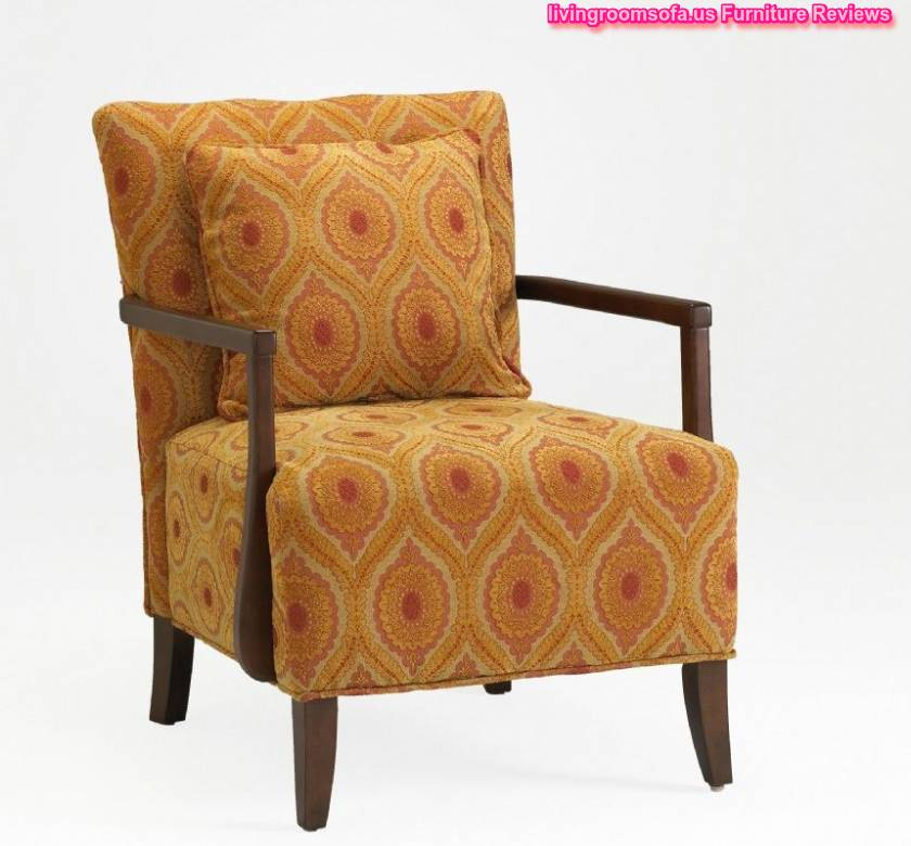 Pattern and brown solid wood legs interesting orange for Bad design furniture