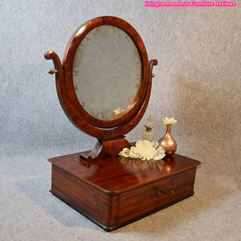 Rounded Two Faced Antique Vanity Mirror Design - Antique Vanity Mirrors