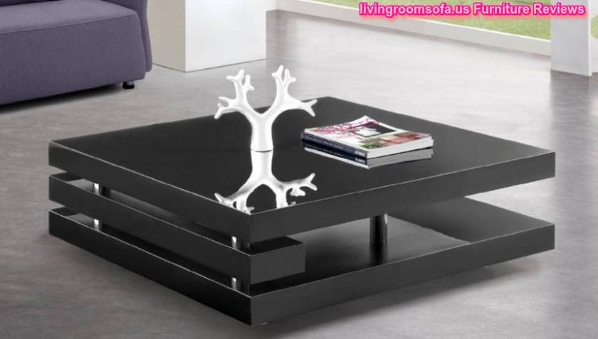Simple Modern Black Wood Coffee Table