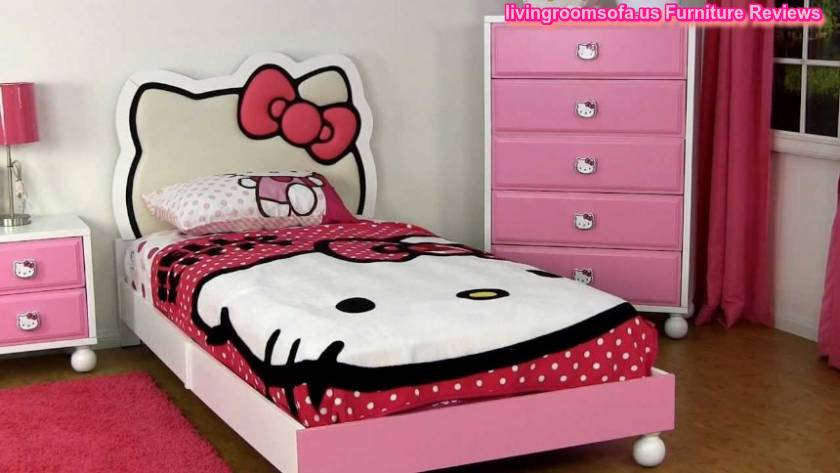 Stunning White Hello Kitty Inspired Kids Room Design With Adorable Hello Kitty Bed Cover Hello Kitty Picture Kids Room Designs
