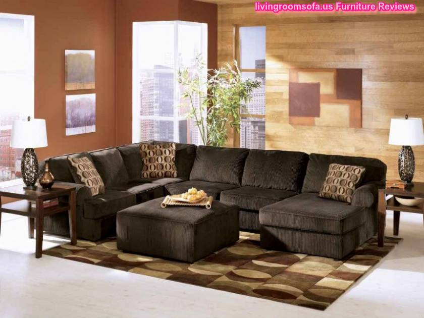 U shaped black sectional for living room design U shaped living room layout