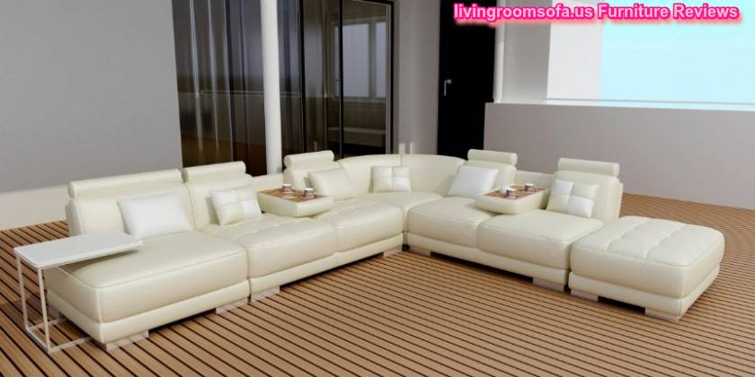 White And Leather Seats Contemporary Sofas And Chairs For Livingroom
