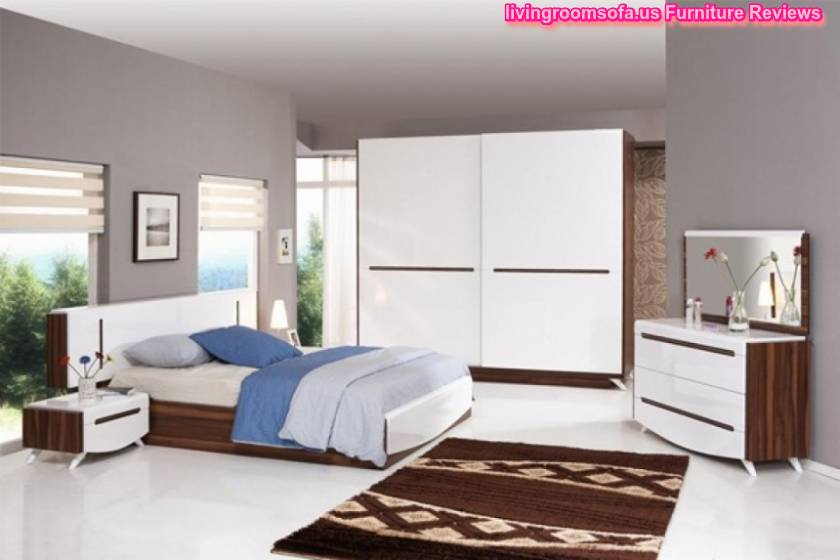 White And Modern Cheap Bedroom Furniture Design Ideas