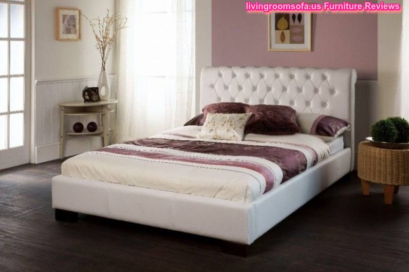 white color trendy bed frames wooden flooring idea