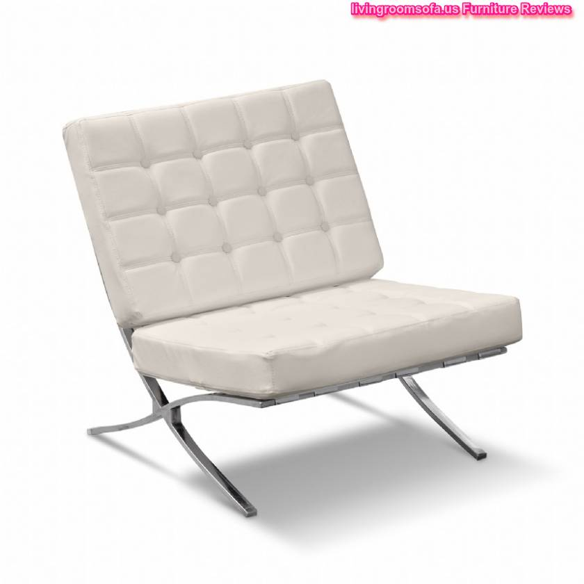 White leather living room chairs modern house for Living room accent chairs