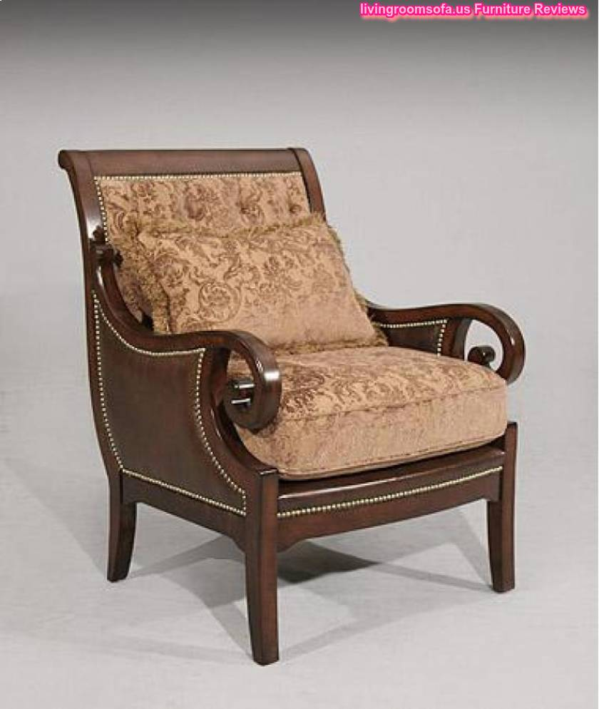 Wooden accent chair for living room for Living room accent chairs