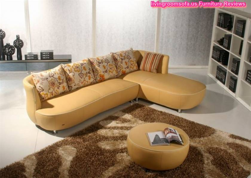 Yellow and modern contemporary leather sofas italian - Yellow leather living room furniture ...