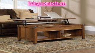 Accent Pieces Forge Lift Top Coffee Table For Living Room