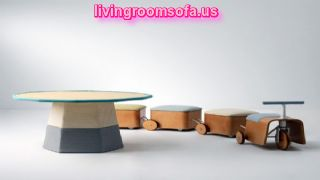 Amazing Kids Playroom Furniture Train Bench