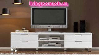 Amazing White Matt Tv Stand