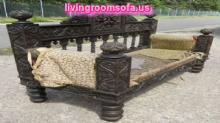 Ancient Wonderful Carved Antique Bench